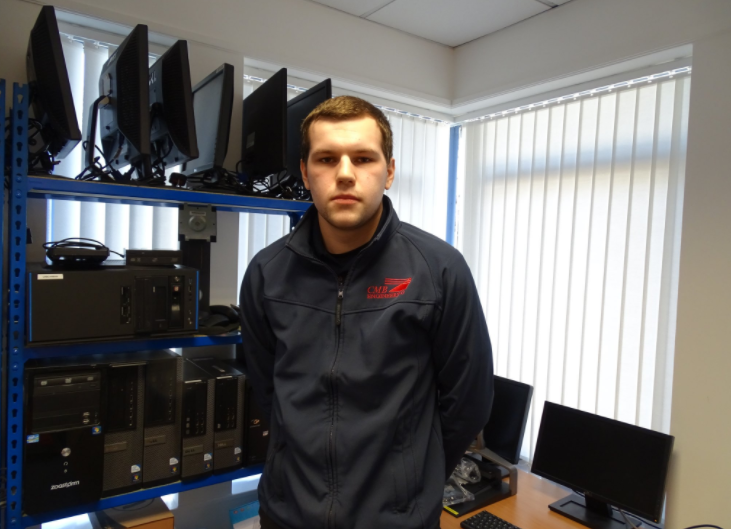 Andrew Griffiths our IT Systems Administrator Apprentice